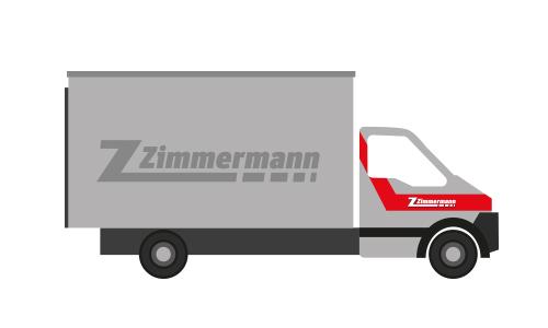 Lieferwagen mit Hebebühne